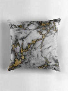 Grey marble gold streaks phone case cover by joellis