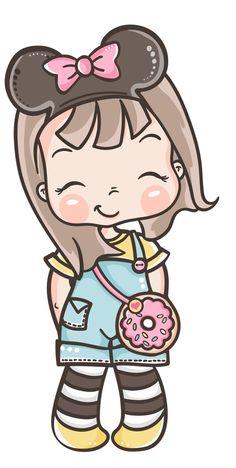 Girl Cartoon Characters, Cute Cartoon Girl, Cartoon Pics, Cartoon Art, Fictional Characters, Doll Drawing, Cute Girl Drawing, Art Drawings For Kids, Easy Drawings