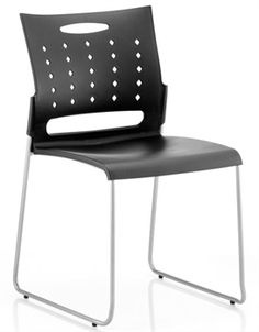Buddy Chrome Visitors Chair Stylish Office Stacking Chairs