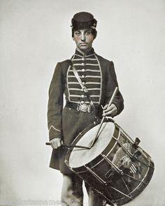 Civil War Photo Print Union Soldier with Wonderful Painted Drum