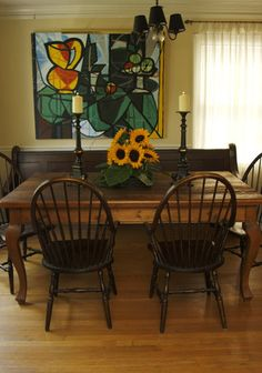 i grew up with a church pew bench and would love to have one in our dining room or eat-in kitchen.