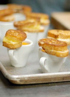 12 Tiny Wedding Treats That Will Satisfy Big-Time: Bring your guests back to their good old childhood days with these teeny grilled cheeses - and keep 'em coming!