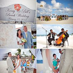 paradisus palma real wedding, barefoot beach wedding