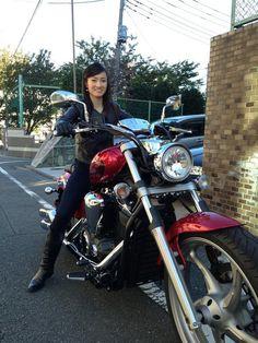 荒川静香 Shizuka Arakawa - YAMAHA XVS1300CA STRYKER - http://baiku-sokuho.info/archives/22319815.html#