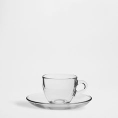 Zara Home: Glass Coffee Cup Glass Coffee Cups, Coffee Cups And Saucers, Cup And Saucer, Tea Cups, Zara Home Australia, Cafe Cup, Zara Home España, Zara Home Collection, Reusable Coffee Cup
