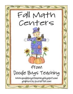These fall math centers will be great for kindergarten or first grade.What's Inlcuded:(1) Counting by 5's Pumpkin Cards - Numbers start at ...