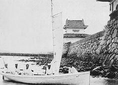 高松城 明治時代に撮影された鹿櫓(非現存)