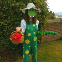 Dorothy the dinosaur costume, made by me and my mother.