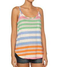 Splendid Tropical Stripe Tank = I live for stripes: