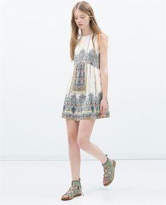 Ropa que adelgaza: vestido imperio Zara