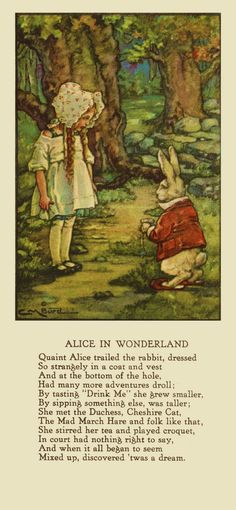 Alice and The White Rabbit by Clara Burd Credit/Pinterest