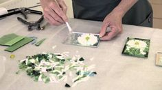 How to create a stained glass Daisy or Chrysanthemum style flower for a mosaic garden tile.