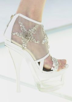 Shoes at Versace Spring 2012