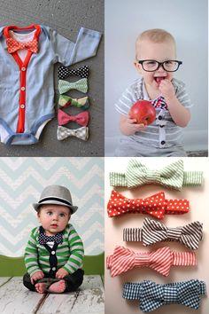 cute bow ties and cardigan onesie set