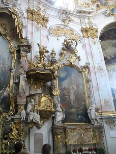 Ettal Basilica-Rococo Interior by momelliott59 on flickr