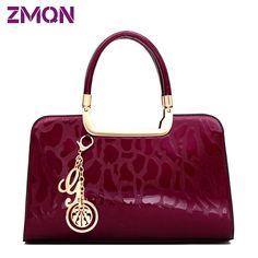 Buyer Praise Women Fashion Bolsos designer Bag Of Brand Famous Designer  Handbags High Quality Patent Leather Hard Tote Bag a675e2cf11dea