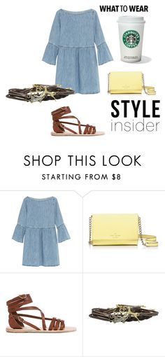 """""""DENIM IS IN"""" by style-insid on Polyvore featuring moda, MM6 Maison Margiela, Kate Spade y Ancient Greek Sandals"""