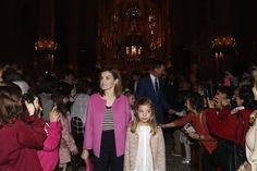 The Spanish Royal Family Attend Easter Mass in Palma de Mallorca