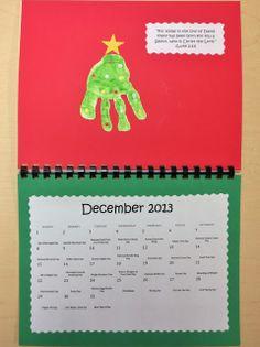 Princesses, Pies, & Preschool Pizzazz: Bible Verse Handprint Calendar