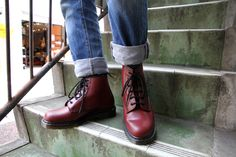 Dr.Martens(ドクターマーチン)CORE 101 6EYE BOOT(10064600)Cherry Red/ドクターマーチン福岡 Dr. Martens, Red Doc Martens, Dr Martens Boots, Doc Martens Oxfords, Dm Boots, Combat Boots, Martens Style, Mens Winter Boots, Everyday Shoes