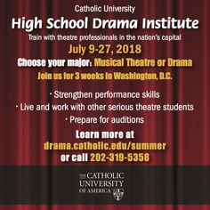 For the serious Drama and Musical Theatre students you know. Please share!