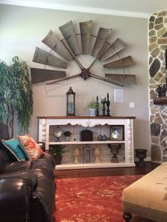 Wood shades: main names and how to combine in the decoration of environments - Home Fashion Trend Windmill Wall Decor, Windmill Art, Windmill Blades, Country Decor, Rustic Decor, Farmhouse Decor, Farmhouse Style, Home Design Decor, Diy Home Decor