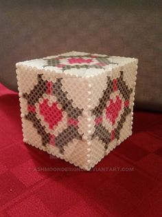 3D Perler Bead Companion Cube by AshMoonDesigns on DeviantArt