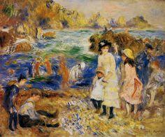 Pierre-Auguste Renoir – Enfants au bord de la mer a Guernsey