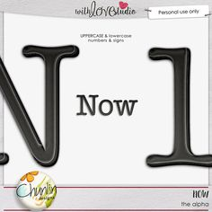Now - the alpha from Chunlin Designs. This classic colors will make your digital scrapbooking layouts perfect. It is perfect to start documenting here and now.
