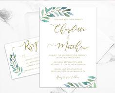 DIY Greenery Wedding Invitation Templates!