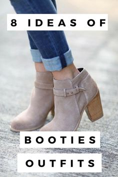 Take a look at the following images and get stylish ideas on how to wear suede booties this year! - Page 5