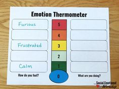 A Feelings Thermometer is the Ultimate Counseling Tool - Social Emotional Workshop Feelings Chart, Feelings Words, Feelings And Emotions, School Counselor Office, Counseling Office, Feelings Activities, Social Thinking, Social Emotional Learning, Dry Erase Markers