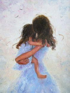 Black Art Painting Love Children 21 New Ideas Black Art Painting, Painting For Kids, Children Painting, Art Children, Hugging Drawing, Mother Daughter Art, Mother And Child Painting, Mothers Love, Fine Art Prints