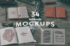 Check out 34 Hip Notebook Mock-ups by Madebyvadim on Creative Market