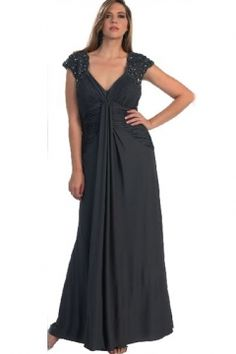 Elegant Plus Size Mother of the Bride Dress with Crystals