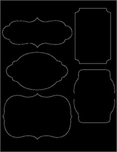 DIY Chalkboard Labels Template