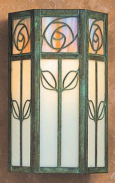 Arroyo Craftsman Saint Clair Outdoor Wall Sconce - The St. Clair Series by Arroyo Craftsman incorporates the use of delicate filigrees that are very pleasing to the. Stained Glass Lamps, Stained Glass Designs, Stained Glass Projects, Stained Glass Patterns, Leaded Glass, Stained Glass Windows, Broken Glass Art, Sea Glass Art, Mosaic Glass