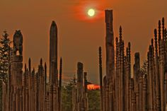 Orange ~ Burnaby Mountain Totem Poles HDR | Flickr - Photo Sharing!