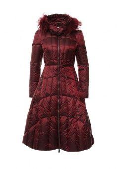 Пуховик, Odri, цвет: бордовый. Артикул: OD001EWLWS80. Женская одежда / Верхняя одежда