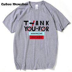 Twenty One Pilots T shirt Men 2017 Fashion Thank You For Making Me T-Shirt Letter It's Called Ukulele Screamo And It's Art Tees