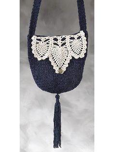 Pineapple Trimmed Crochet Handbag Pattern. Not lovin' the dangly tassle thingie but the trimwork is so sweet!