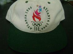 1996 Atlanta Summer Olympics Ball Cap  Snap Back Adjustable Cream Hunter Green #TheGames