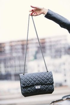 Chanel black quilted aged calfskin reissue 2.55 bag