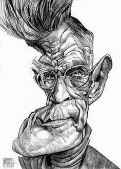 Samuel Beckett,Irish Novelist (by Russ Cook)