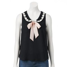 lace & bow chiffon top from kohl's