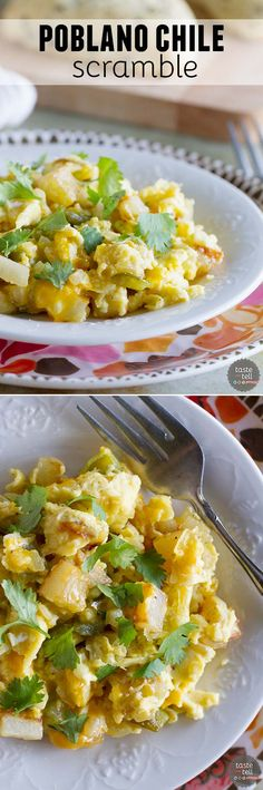 The perfect breakfast for dinner recipe, this Poblano Chile Scramble ...
