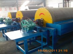 CTB wet drum magnetic separator for iron sand , recovery of iron ore in coal dressing plant