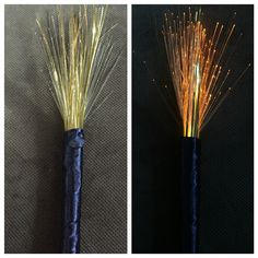 Flameless sparklers. The venue doesn't allow them so I made this for our send off. fiber optic wands.
