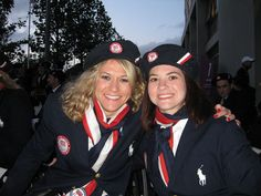 Jessica Galli (MS '10 AHS, BS '06 AHS) and Sarah Castle (MS '08 LAS; BA '06 LAS) at London 2012 Paralympic Opening Ceremonies