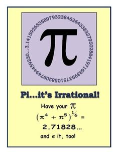 Free Pi Day Activities and Poster
